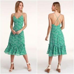 Lulu's Fleurs Floral Print Dress